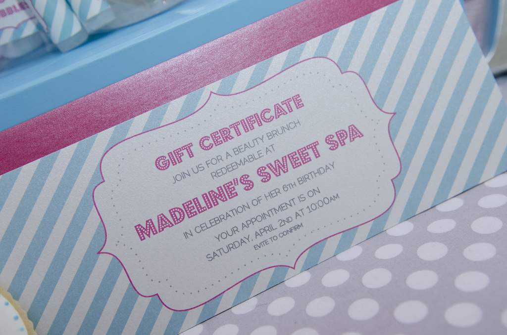 Sweet Spa Invitation